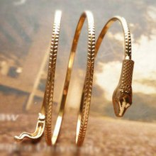 Punk Vintage Fashion Exaggerated Snake Shaped Bangle Bracelet For Women Men Heavy Metal Jewelry Multi-Layer Winding Barcelets(China)
