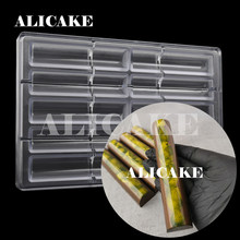 Chocolate Bar Molds Polycarbonate Chocolate Mould Tray Cylinder Stick Cake Moulds Form for Bakery Baking Mold Pastry Tools