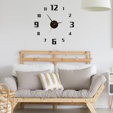 Large 3D DIY Wall Clock Acrylic Mirror Surface Wall Clock Stickers Home Decor Art Decal Home Decor Modern Decor cheap CN(Origin) Wall Clocks circular Single Face 15 cm Digital 9 mm Sheet abstract Loudspeaker Mute living room Separates Needle