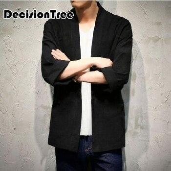 2020 kimono para Hombre Ropa japonesa streetwear casual chaquetas de kimonos moda harajuku japonesa estilo chaqueta prendas de vestir