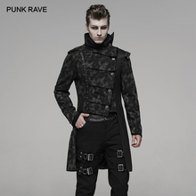 Winter Coat Jacket PUNK Windbreaker Irregular Male Long Fashion Fall Print RAVE Handsome-Uniforms