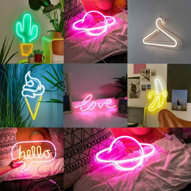 Banana Neon Signs Led Light Art Wall Decorative Lights For Room Birthday Party Bar Decor Window Hanging