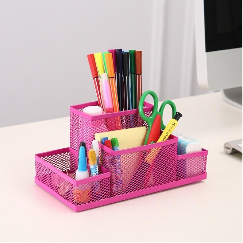 NEW Office Supplies Stationery Pencil Pen Holder Mesh Table Desk Organizer Storage Case