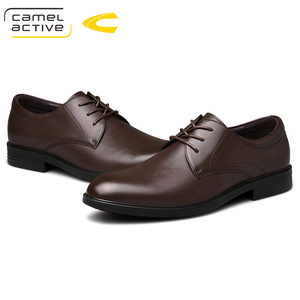 Image 5 - Camel Active New Business Wedding Dress Shoes England Genuine Leather Shoes Soft Leather Shoes Men Elegant Derby Casual Shoes