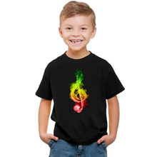 2020 Note Music T Shirt New Funny T-Shirt Boys Boy T Shirt Fashion O-Neck Kids Short Sleeve Tees Cool Printing Children Clothing цена и фото