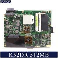 KEFU K52DR carte mère d'ordinateur portable pour ASUS K52DR A52DE K52DE A52DR K52D carte mère originale AMD 512MB carte vidéo