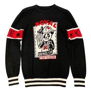 Nuevo suéter de algodón de cuello redondo primavera