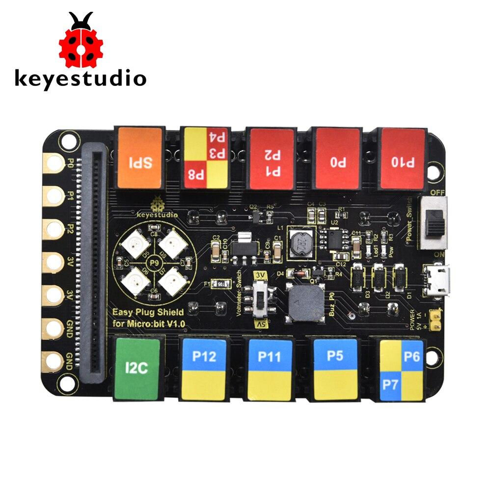 Keyestudio EASY Plug RJ11 6P6C Shield V1.0 For Micro:bit