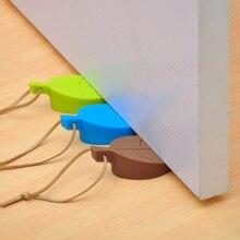 Door-Stop-Stoppers Door-Block Anti-Folder Silicone-Rubber Hand-Security Hanging Leaves