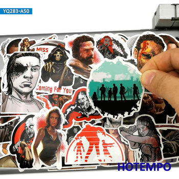 50pcs The Walking Dead Comic Style Fashion Stickers Toy for Mobile Phone Laptop Luggage Skateboard Car Moto Anime Decal Stickers ken vokey luggage from the dead