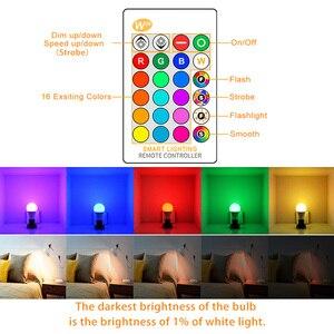 Image 2 - RGB LED Bulb E27 B22 Dimmable 16 Color Changing Magic Light Bulb 5W 10W 15W AC 110V 220V RGB + White IR Remote Smart Lampada