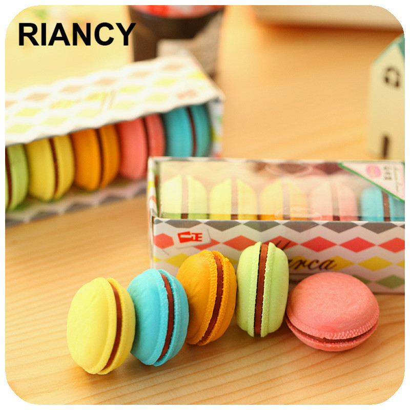 5 Colors Delicious Cake Eraser Gomas De Borrar Gustless Stationery Erasers Gomme Kawaii Erasers For Kids Rubber 00612