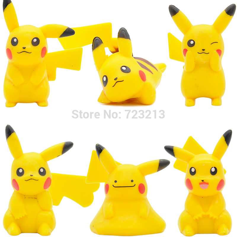 Toys Models Pikachu Psyduck-Figure Educational-Sets Resin Children Cartoon Single-Sale