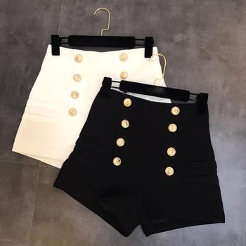 high waisted shorts womens button shorts