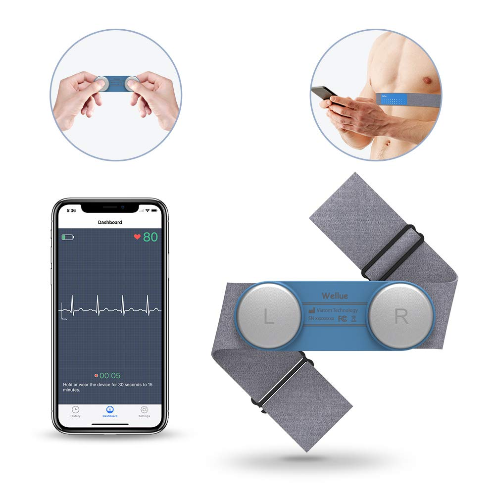 Wearable-Chest-Strap-ECG-EKG-Monitor-30s-15min-Recording-Free-App-PDF-Report-Wireless-Heart-Rate