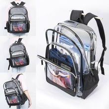 Travel Bag Unisex Women Transparent PVC Multi-pockets Security Backpack Casual Clear Jelly Travel School Bookbag Purse Beach Bag