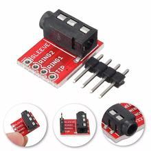 20 pçs/lote 3.5mm plug jack estéreo trrs fone de ouvido áudio soquete breakout placa módulo extensão
