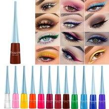 Novo 17 cores líquido fosco lápis delineador à prova dwaterproof água olho forro maquiagem lápis de secagem rápida roxo marrom delineador cosméticos caneta ferramenta
