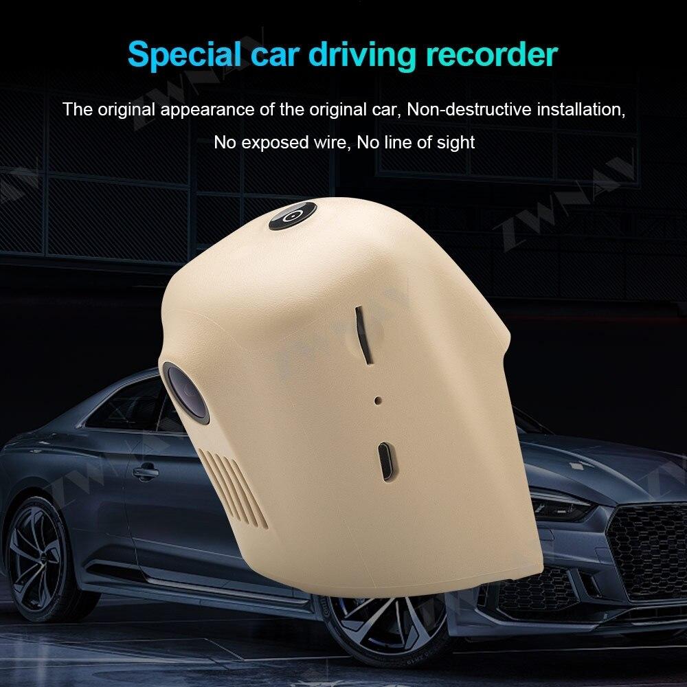 Tipo escondido hd gravador de condução dedicado para audi a1 a4l a6l a7 q5, audi a3 2015 dvr traço cam câmera frontal do carro wifi - 3