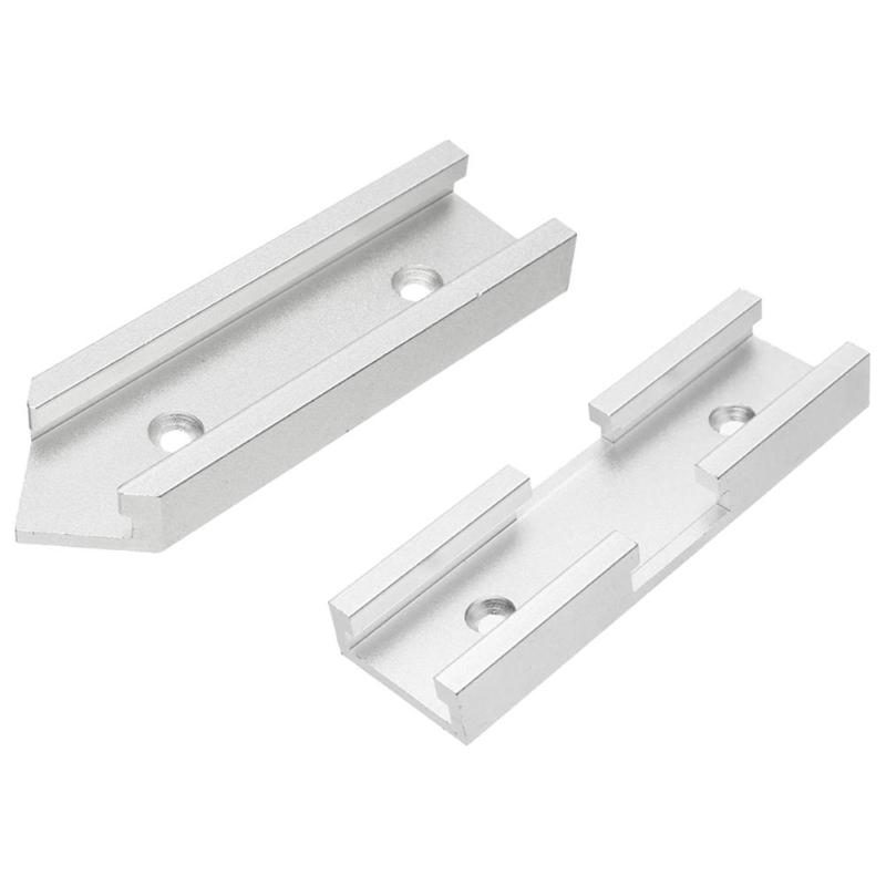 Woodworking Aluminum Slot Miter T-track Connector Fixture Screws Carpenter Woodworking Tools For Router Table