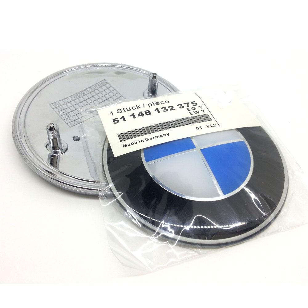 74mm or 82mm for BMW E30 E38 E39 E46 E60 E61 E90 X3 E70 E83 X5 F10 F11 F30 Logo  Carbon Fiber Front