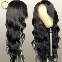 Sterly 13x6 Lace Front Human Hair Wigs Pre Plucked Remy Brazilian Body Wave Lace Frontal Closure Wig Deep Part(China)