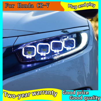 Car Styling Head Lamp case for Honda Civic 2016-2018 Headlights LED Honda Civic Headlight DRL Lens Double Beam Bi-Xenon HID