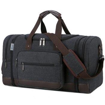 Canvas Travel Bag Men Large Capacity Travel Duffle Bag Milti-functional Travel Luggage Bag Casual Big Travel Organizer Bags & Shoes