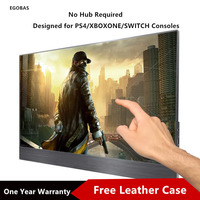[One Cable Connection] 15.6 Inch Portable Monitor Touch Screen IPS For PS4 Xbox Switch PC Laptop Phones Monitor For PC Gamer