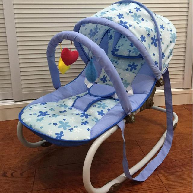 Portable Baby Rocking Chair, can sit can lie Multifunctional Baby Cradle, steel pipe Baby Chair with mosquito net