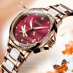 The new 2020!OLEVS women watch, waterproof automatic mechanical watch female, ceramic watch, gift for women