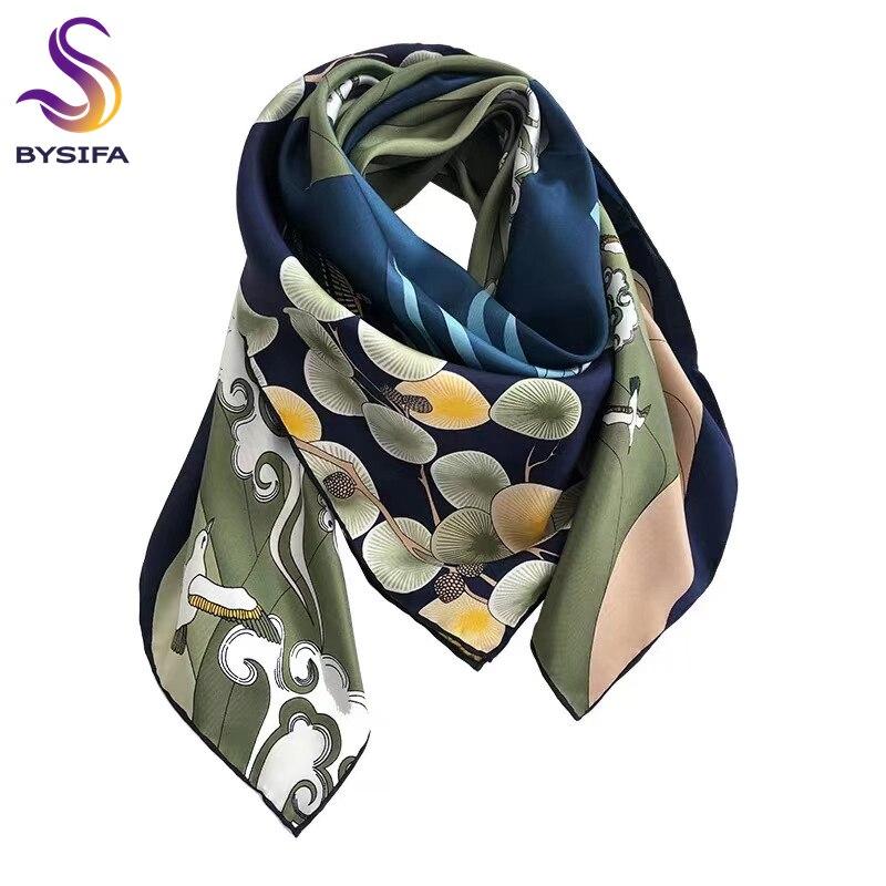 SFP8 Floral 100/% Silk Long Scarf Fashion Women Neck Shawl Hijab Stole Scarves