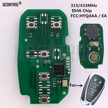 QCONTROL Car Remote Key Electronic Circuit Board for Chevrolet Camaro Equinox Cruze Malibu Spark 315/433MHz HYQ4AA HYQ4EA(China)