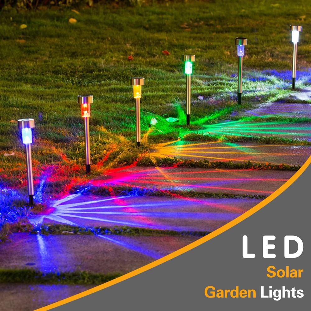 LED Solar Garden Light Solar Landscape Pathway Light Solar Lawn Lamp Multiple Color For Patio Yard Path Walkway Decor Solar Lamp