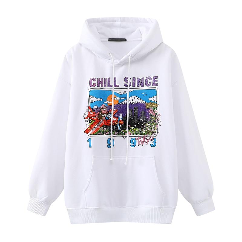 Oversize girls stylish cartoon print hoodies 2020 autumn fashion ladies chic hoodies female casual pullovers streetwear women 7