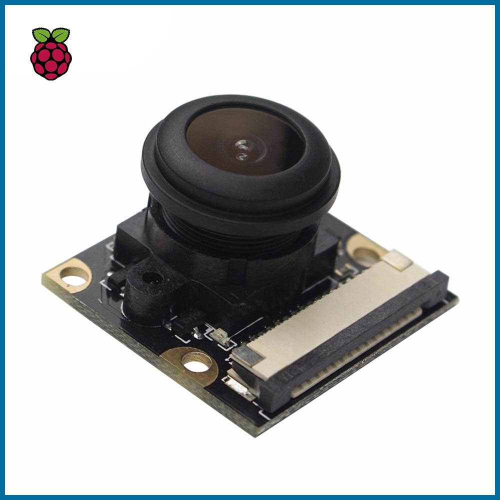 S ROBOT For Raspberry Pi 4 Model B/3B+/3B/2B Night Vision Fisheye Camera 5MP OV5647 130 Degree Focal Adjustable Camera RPI149