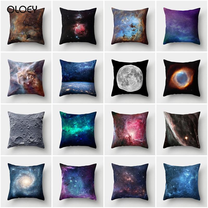 3D Galaxy Pillowcase Cosmic Space Theme Pillowcase Down Cushion Home Hotel Bed Sedan Seat Decoration Backrest Pillowcase Unique.