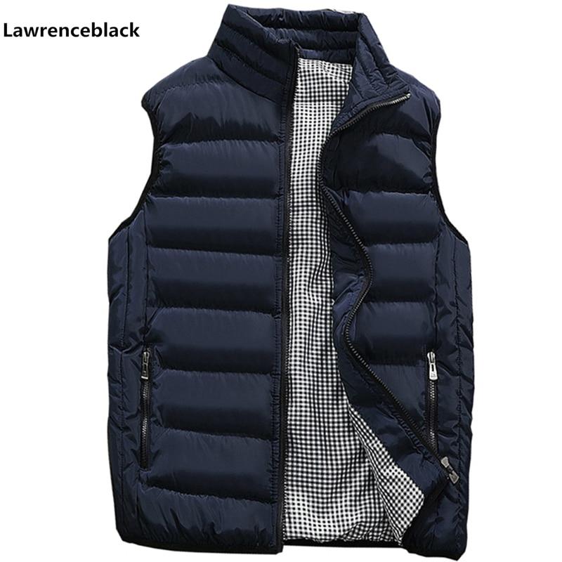 Mens Jacket Sleeveless Vest Winter Fashion Casual Slim Coats Brand Clothing Cotton-Padded Men's Vest Men Waistcoat Big Size 666 1