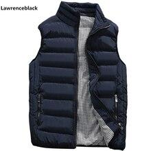 Мужская куртка, жилет без рукавов, Зимняя мода, повседневные облегающие пальто, брендовая одежда, мужской жилет с хлопковой подкладкой, мужской жилет, большой размер 666