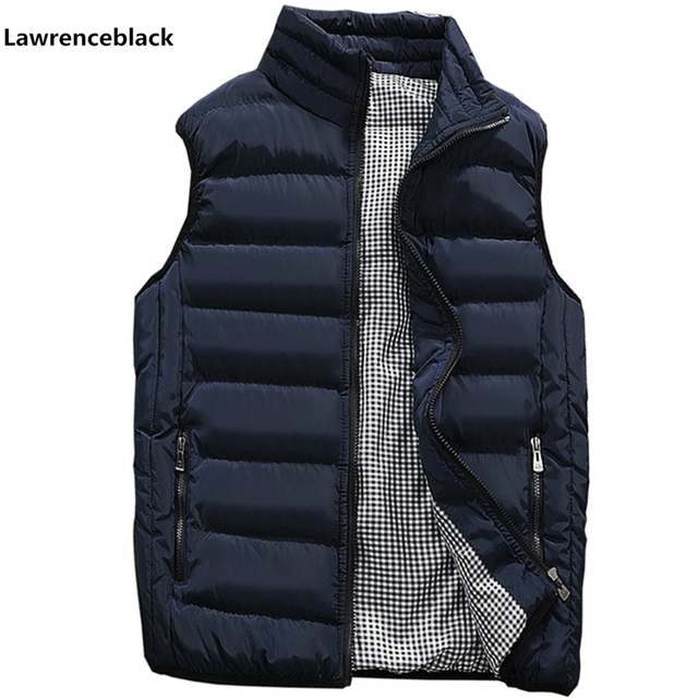 Mens Jacket Sleeveless Vest Winter Fashion Casual Slim Coats Brand Clothing Cotton Padded Mens Vest Men Waistcoat Big Size 666