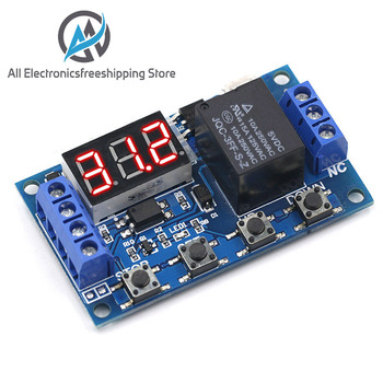 цена на DC 6-30V Support Micro USB 5V LED Display Automation Cycle Delay Timer Control Off Switch Delay Time Relay 6V 9V 12V 24V