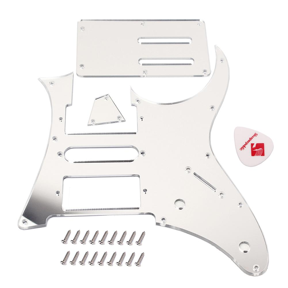Acrylic HSH Guitar Pickguard Back Plate Truss Rod Cover Set For Ibanez RG350 EXZ EX HSH Guitar Accessories