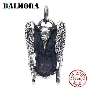 Image 1 - BALMORA 925 Sterling Silber Eagle Charm Anhänger für Frauen Männer Paar Geschenk Punk Coole Vintage Mode Schmuck Ohne Kette