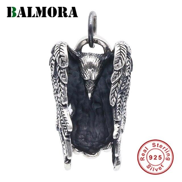 BALMORA 925 Sterling Silber Eagle Charm Anhänger für Frauen Männer Paar Geschenk Punk Coole Vintage Mode Schmuck Ohne Kette