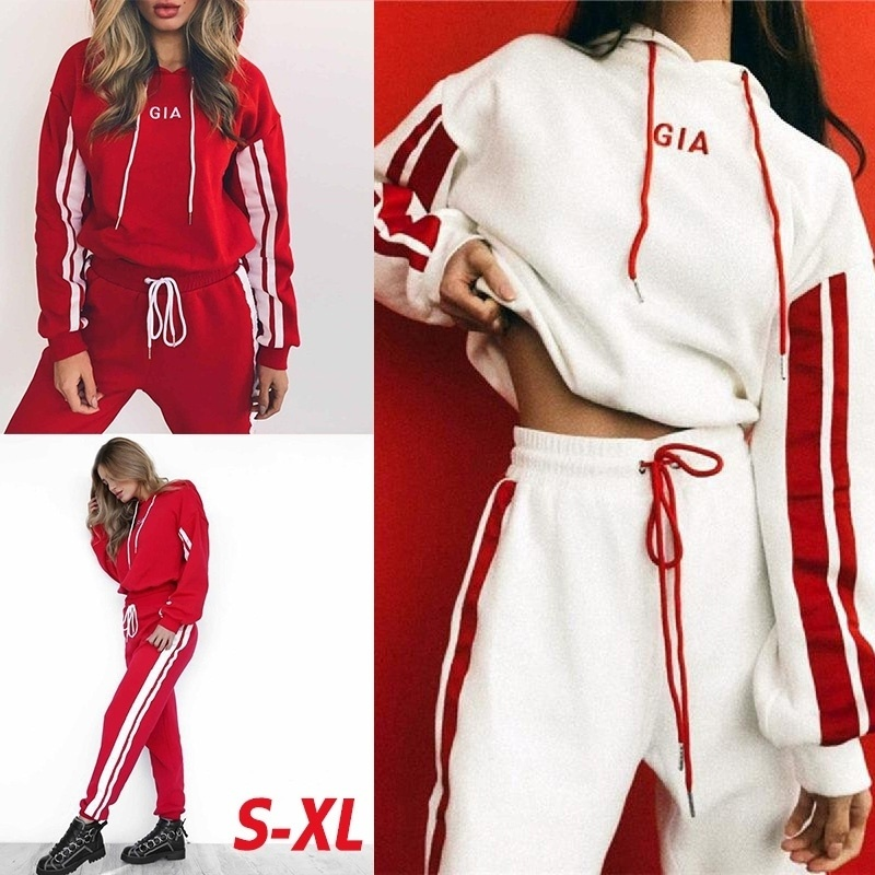 ZOGAA 2020 New Women Tracksuit 2 Piece Set Casual Sportswear Hooded Sweatshirt Tops And Pants Two Piece Sets Women Outfits