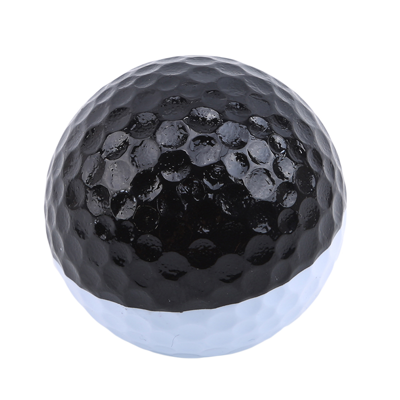 Golf Ball Rubber Hollow Out Sports Training Tennis Black White Golfball Round Practice Golf Accessories For Outdoor Play