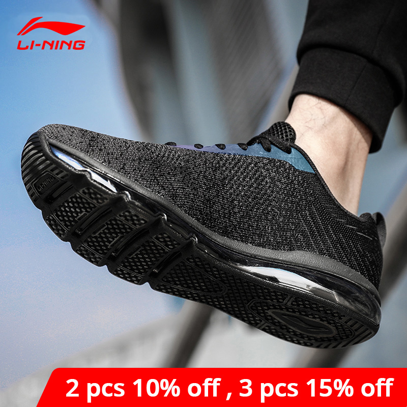 Li-Ning <font><b>Men</b></font> Bubble Max Classic Lifestyle <font><b>Shoes</b></font> Cushion Sneakers <font><b>LiNing</b></font> li ning Breathable Fitness Sport <font><b>Shoes</b></font> AGCN075 YXB134 image