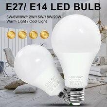 Canling 220v lâmpadas e27 led lampada 15w 18 20 ponto luz led 240v casa lâmpada de iluminação e14 spotlight led 3w 6 9 12 lâmpada focos