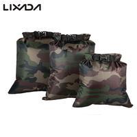Lixada-bolsa seca impermeable plegable para exteriores, saco para acampar, natación deriva, Rafting, Kayak, río, 3 uds. Bolsa seca 3L + 5L + 8L