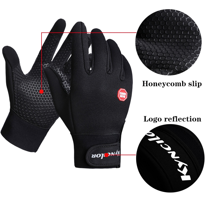 Winter Outdoor Windproof Motorcycle Glove Anti-slip Warm Skiing Cycling Riding Climbing Glove Touch Screen Driving Gloves